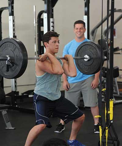 David Bernavich training